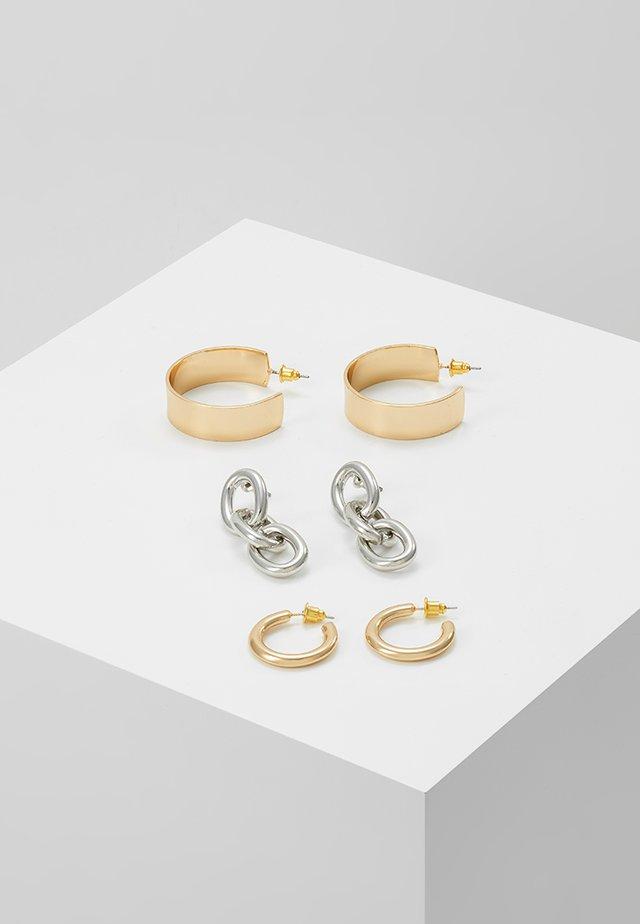 HOOP AND LINK 3 PACK - Korvakorut - gold-coloured/silver-coloured