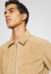 NN07 - TRON SUEDE RACER - Leather jacket - cognac - 3