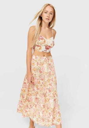 PEASANT - A-line skirt - white
