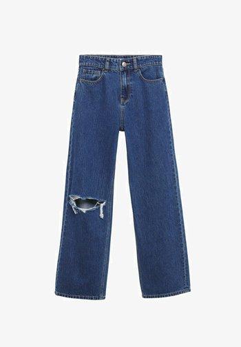 WIDE  - Flared Jeans - bleu foncé