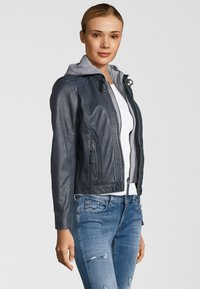 Gipsy - TALIDA - Leather jacket - denim blue - 2