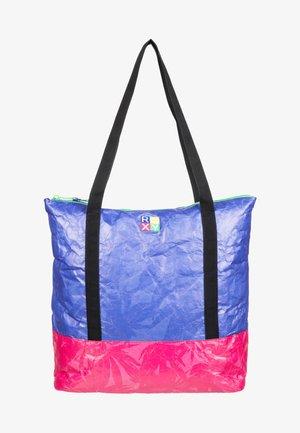 Tote bag - princess blue texture flower