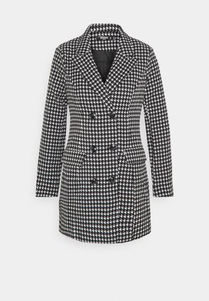 DOUBLE BREASTED DOGTOOTH BLAZER DRESS - Vestido informal - black