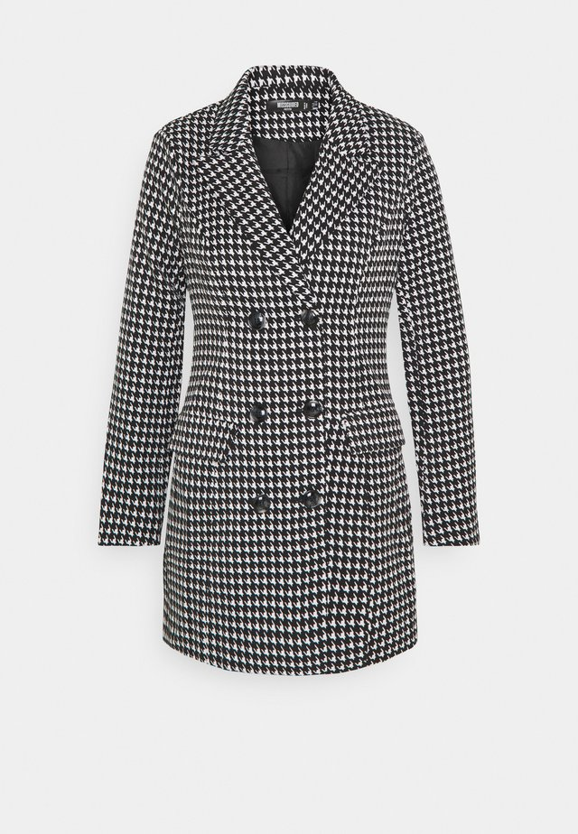 DOUBLE BREASTED DOGTOOTH BLAZER DRESS - Day dress - black