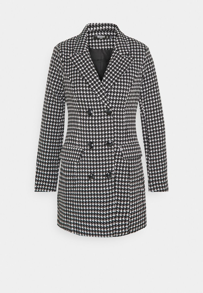 Missguided Petite - DOUBLE BREASTED DOGTOOTH BLAZER DRESS - Day dress - black