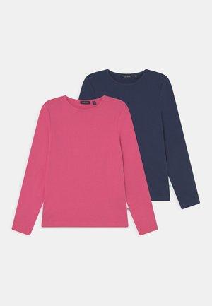 KIDS GIRLS 2 PACK - Long sleeved top - pink/blau