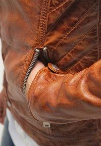 Freaky Nation - DYLAN - Leather jacket - burned orange - 5