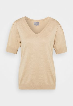 CUANNEMARIE - Basic T-shirt - tannin melange