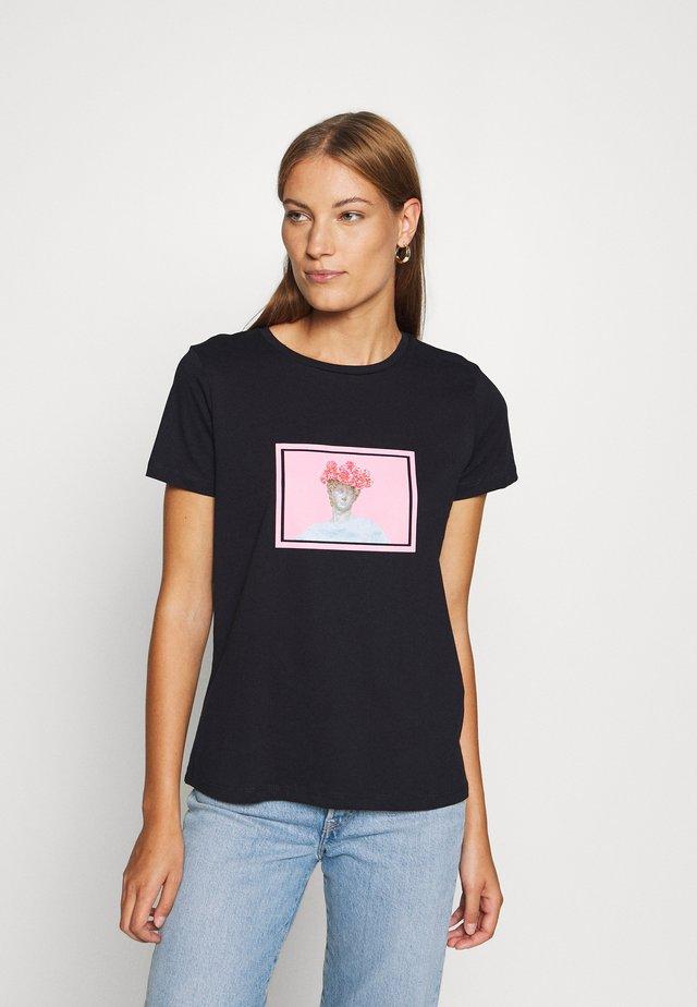LACIVERT - Print T-shirt - navy