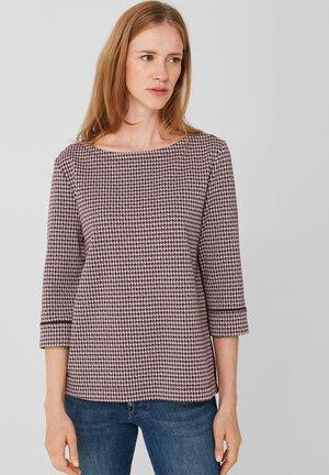 MIT PIPING - Sweatshirt - blue glen check