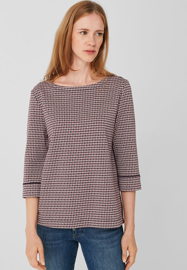 MIT PIPING - Sweatshirt - blue glen check