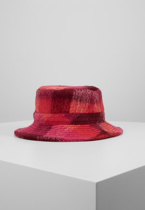 CHECK WOODS BUCKET HAT - Hat - pink