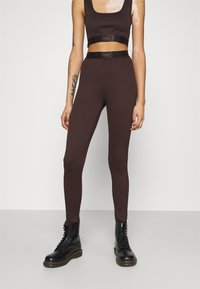 Gina Tricot - CONNIE - Leggings - Trousers - black coffee - 0