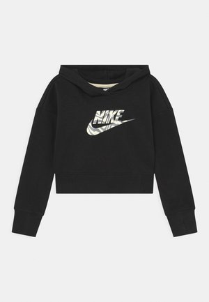 CROP HOODIE  - Sweater - black
