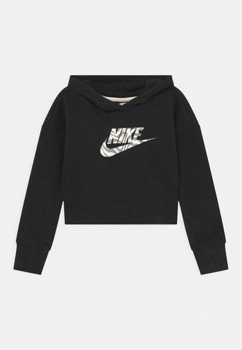 CROP HOODIE  - Sweatshirt - black