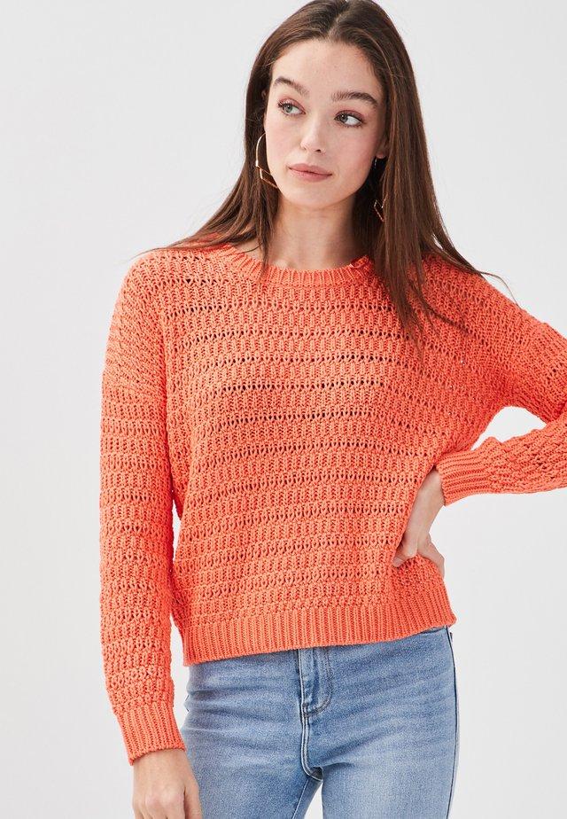 MIT LOCHMUSTER - Trui - orange coral