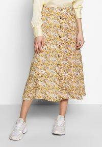 Mavi - LONG SKIRT - A-line skirt - antique white soft ditsy - 1