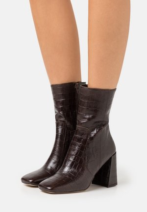 VOICE - High heeled ankle boots - marron