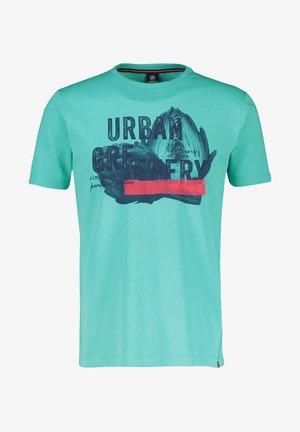 URBAN GREENERY - Print T-shirt - turquoise