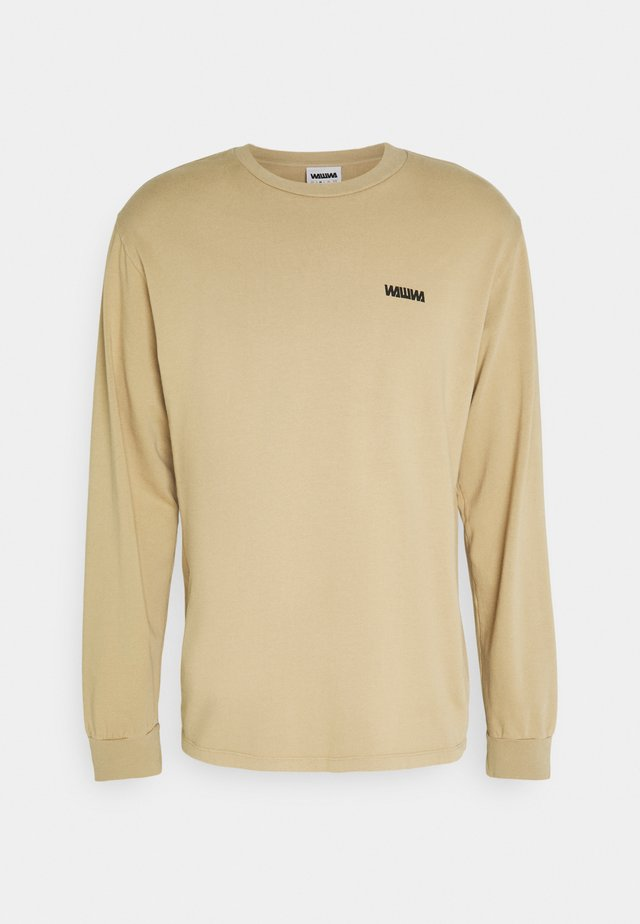 CIRCLE LOGO LONGSLEEVE UNISEX - Maglietta a manica lunga - beige