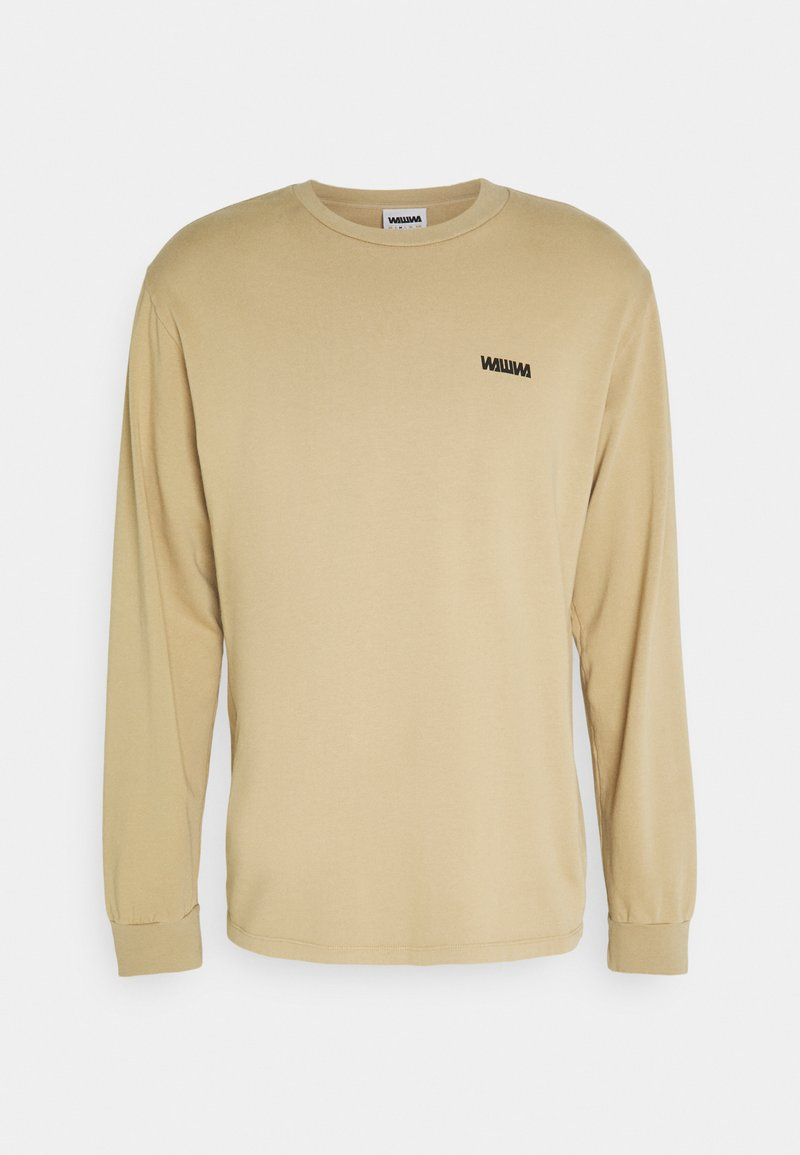 WAWWA - CIRCLE LOGO LONGSLEEVE UNISEX - Maglietta a manica lunga - beige