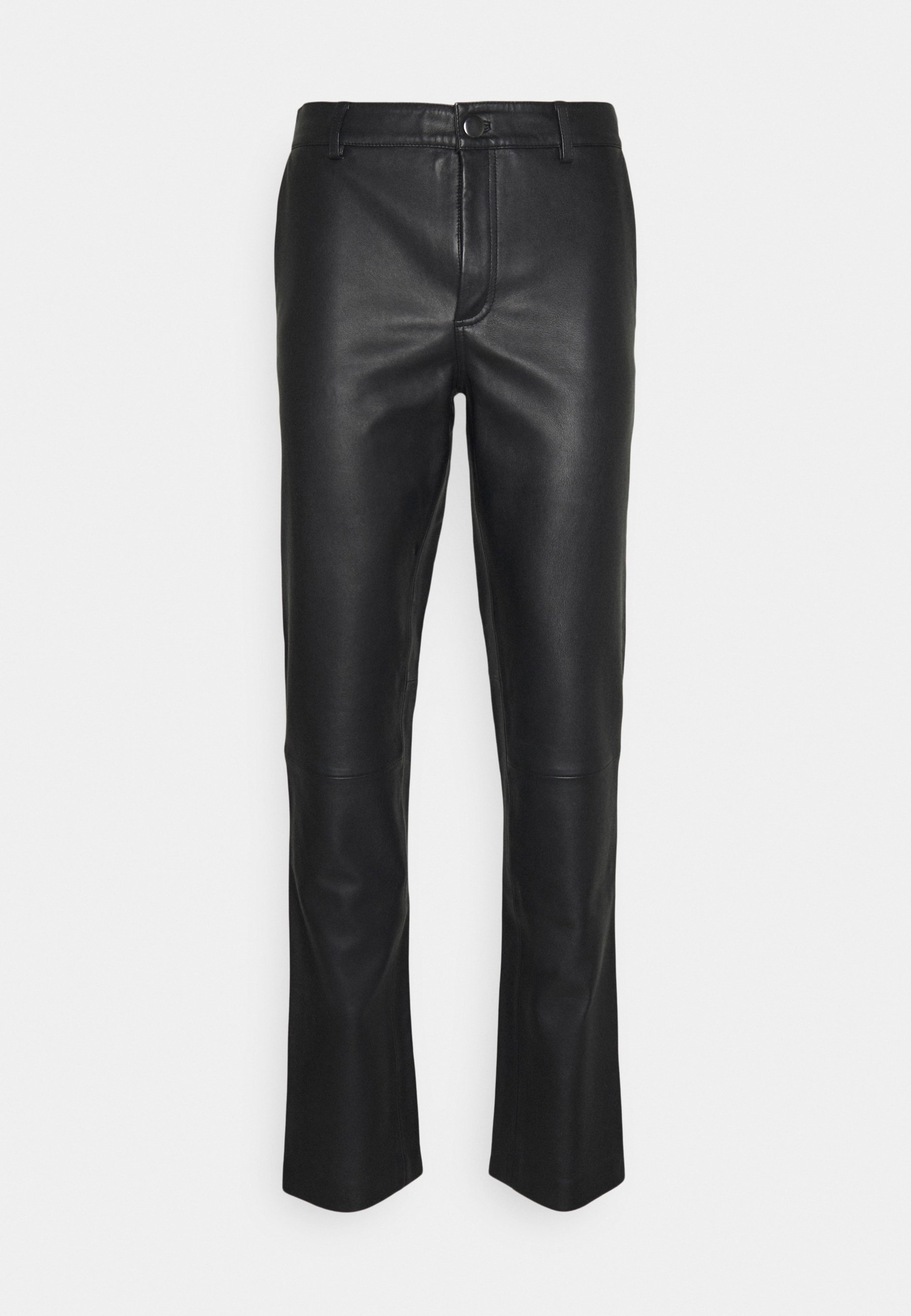Men FITTED TOUSERS - Leather trousers
