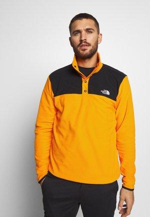 MENS GLACIER SNAP NECK - Fleece jumper - flame orange/black