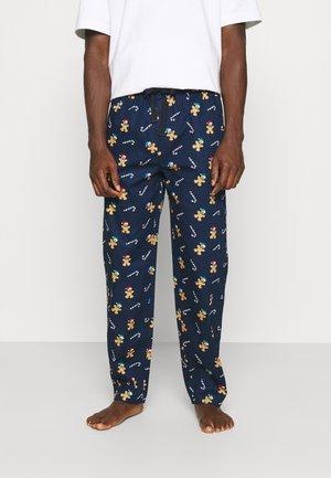 XMAS TROUSERS - Pyjamahousut/-shortsit - blue dark allover
