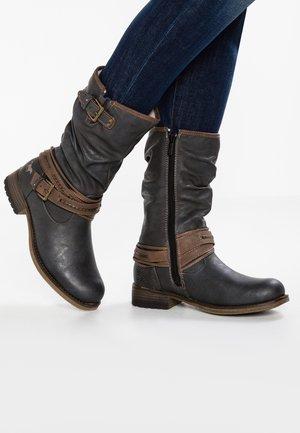 Kovbojské/motorkářské boty - graphit
