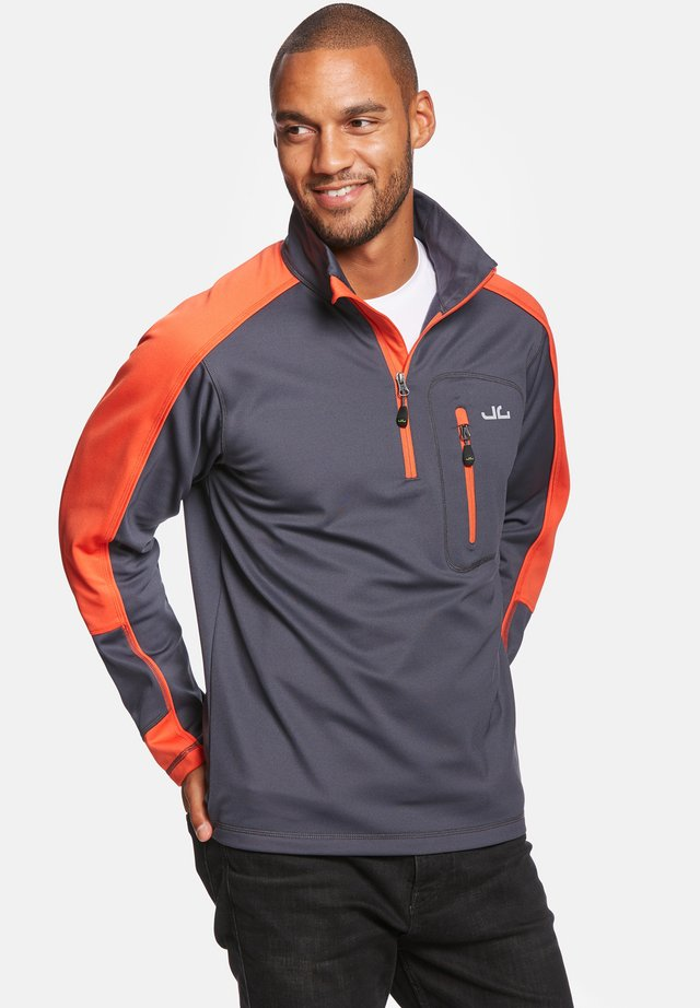 Fleece trui - orange/navy