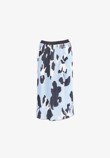 ROCK RISHA BLOOM - Pleated skirt - blau-kombi