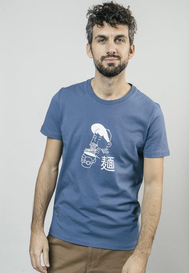 LUNCH BREAK - T-shirt imprimé - blue