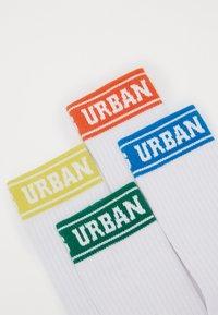 Urban Classics - SHORT SPORTY LOGO SOCKS COLOURED CUFF 4 PACK - Sukat - multicolor - 2