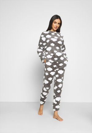 ONLCAYA NIGHTWEAR SET - Pyjama - dark grey melange