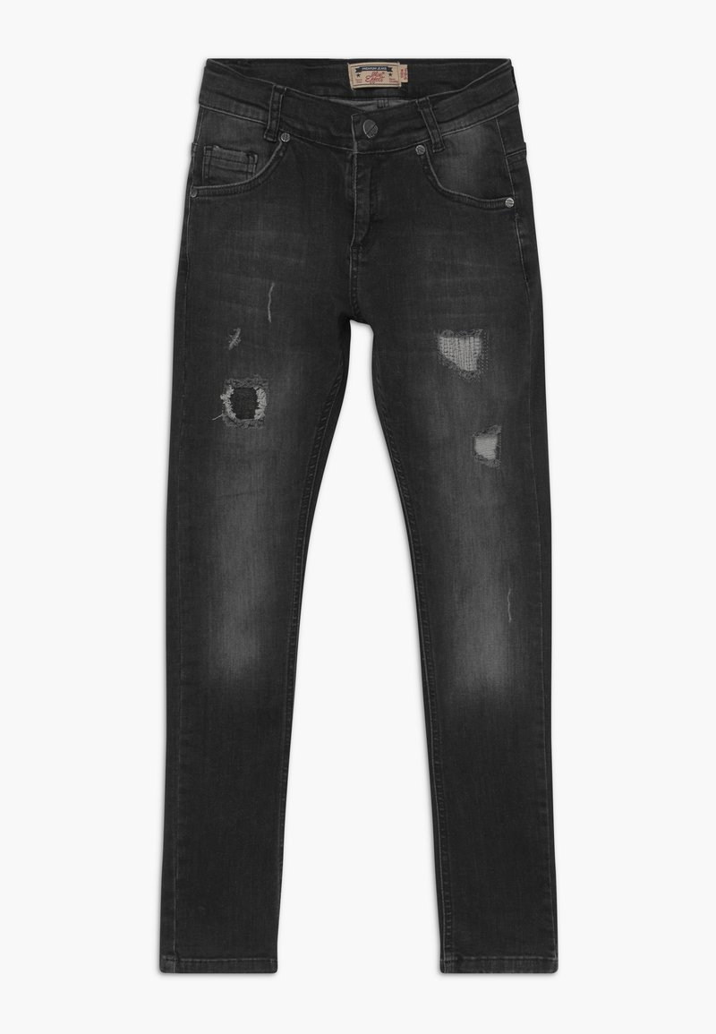 Blue Effect - BOYS HEAVY DESTROYED - Jeans Skinny Fit - black medium
