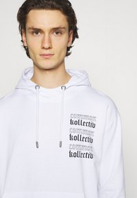 Common Kollectiv - GOTHIC HOOD UNISEX  - Hoodie - white - 3