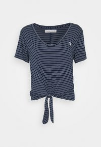 Abercrombie & Fitch - TEE - T-shirts med print - navy - 0