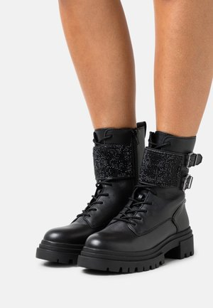 WOA - Lace-up ankle boots - black