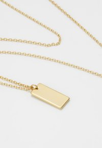 Orelia - CLEAN TAG DITSY NECKLACE - Halskette - pale gold-coloured - 4