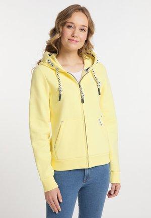 Zip-up sweatshirt - hellgelb