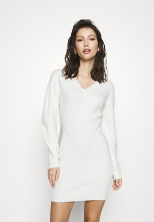 SLEEVE MINI DRESS - Jumper dress - white