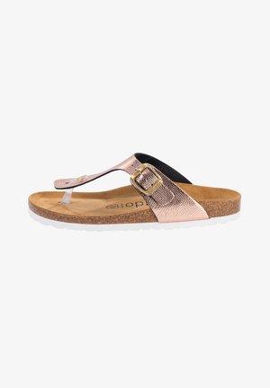 PALADO KOS - T-bar sandals - antra rose