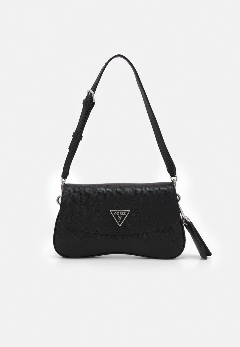 Guess - CORDELIA FLAP SHOULDER - Handbag - black