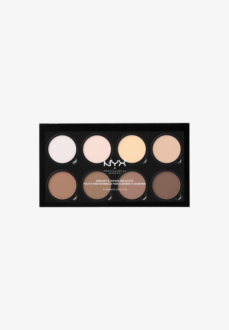 Nyx Professional Makeup - HIGHLIGHT & CONTOUR PRO PALETTE - Paleta do makijażu - -