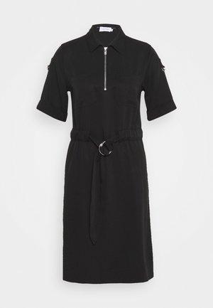 ZIP UP MINI DRESS - Day dress - black