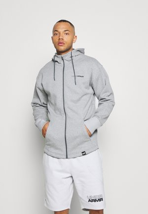 veste en sweat zippée - pitch gray light heather