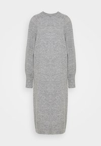 MIDI LENGTH DRESS - Pletené šaty - grey marl