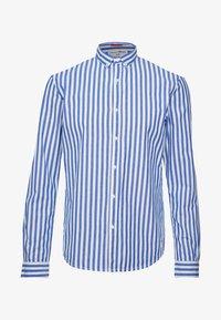 white blue bold stripe