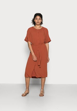 DRESS - Shirt dress - terracotta