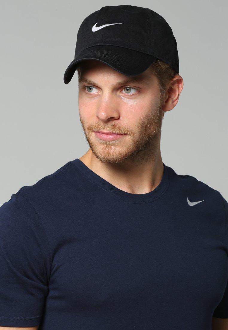Nike Sportswear - SWOOSH HERITAGE86 - Caps - black/wolf grey